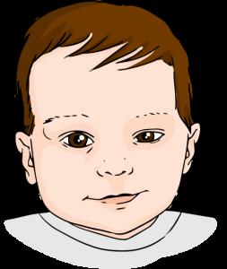 plokscios galvos sindromas; veido asimetrija; viena akis didesne
